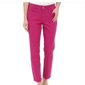 NYDJ Ankle Style Fuchsia Skinny Jeans Siz 12